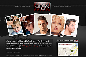 Chapz Barbers Website
